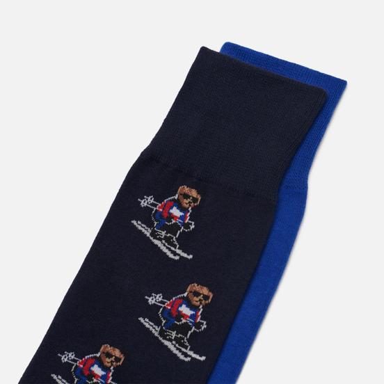 Комплект носков Polo Ralph Lauren Ski Bears Crew 2-Pack Cruise Navy/Sapphire Star/Cruise Navy