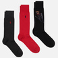 Комплект носков Polo Ralph Lauren Skijump Bear Crew 3 Pack Black/Dark Charcoal/Pion Red фото - 0
