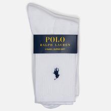 Комплект носков Polo Ralph Lauren Supersoft Crew 3-Pack White фото- 1