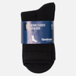 Комплект носков Reebok Classic Core Crew 3-Pack Black/Black/Black фото- 1