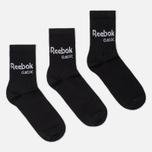 Комплект носков Reebok Classic Core Crew 3-Pack Black/Black/Black фото- 0