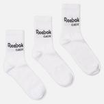 Комплект носков Reebok Classic Core Crew 3-Pack White/White/White фото- 0