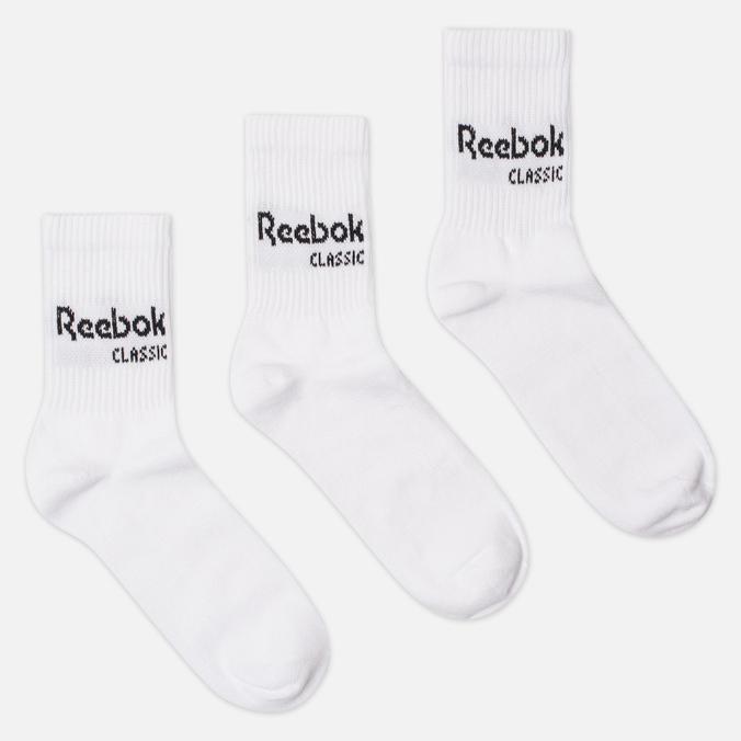 Комплект носков Reebok Classic Core Crew 3-Pack White/White/White