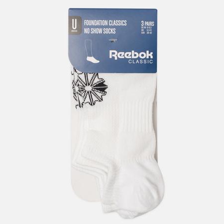 Комплект носков Reebok Classic Invisible 3-Pack White