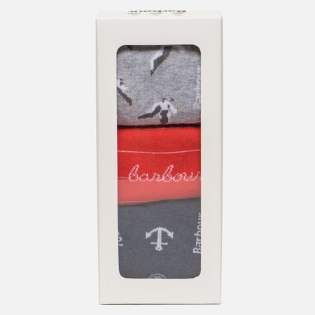 Комплект женских носков Barbour Coastal Giftbox Navy/Orange/Grey