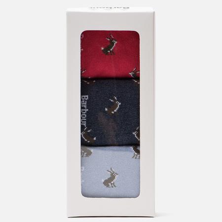 Комплект женских носков Barbour Rabbit Motif Giftbox Red/Navy/Blue