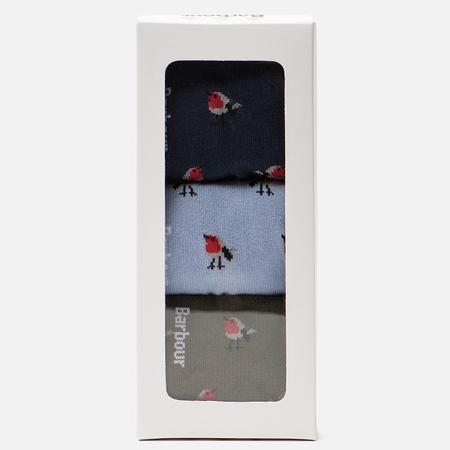 Комплект женских носков Barbour Robin Christmas Giftbox Multicolor