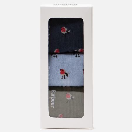 Комплект женских носков Barbour Robin Motif Giftbox Olive/Navy/Blue