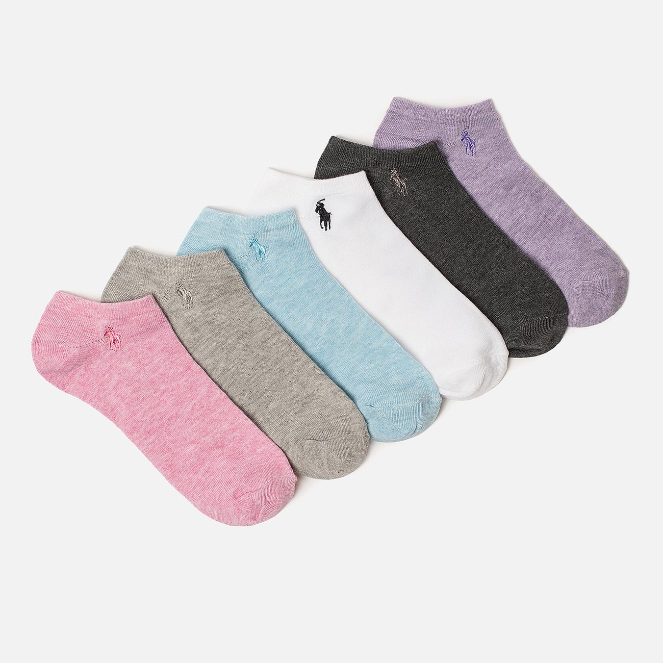 Комплект женских носков Polo Ralph Lauren Flat Ultra 6-Pack Multicolor