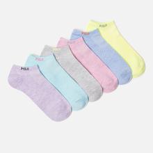 Комплект женских носков Polo Ralph Lauren Marled Polo 6-Pack Multicolor фото- 0