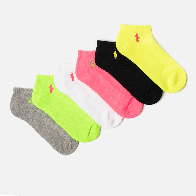 Комплект женских носков Polo Ralph Lauren Stretch Sole Poly Blend 6-Pack Bright Multicolor