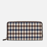 Кошелек Aquascutum Zip Club Check Brown фото- 0