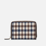 Кошелек Aquascutum Zip Small Club Check Brown фото- 0