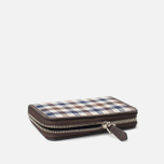 Кошелек Aquascutum Zip Small Club Check Brown фото- 2