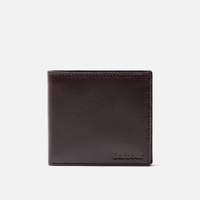 Кошелек Barbour Kirkham Leather Billfold Coin Dark Brown