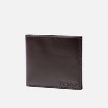 Кошелек Barbour Kirkham Leather Billfold Dark Brown фото- 1