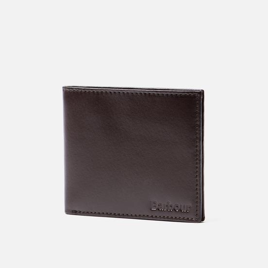 Кошелек Barbour Kirkham Leather Billfold Dark Brown