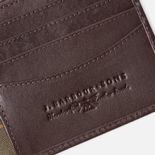 Кошелек Barbour Kirkham Leather Billfold Dark Brown фото- 3