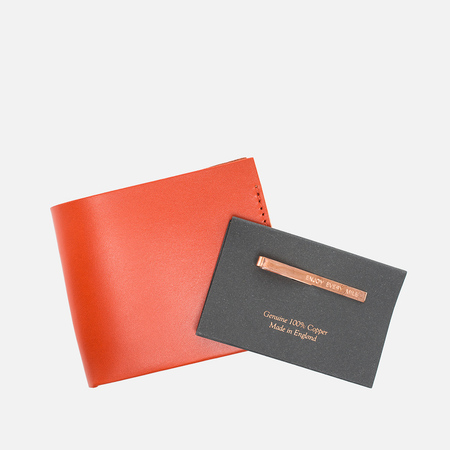 Brooks England JB1 Medium Clip Wallet Mandarin