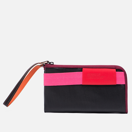 Кошелек Cote&Ciel Wallet Large Leather Black/Fluo Pink/Dark Orchid