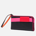 Кошелек Cote&Ciel Wallet Large Leather Black/Fluo Pink/Dark Orchid фото- 1