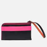 Кошелек Cote&Ciel Wallet Large Leather Black/Fluo Pink/Dark Orchid фото- 2