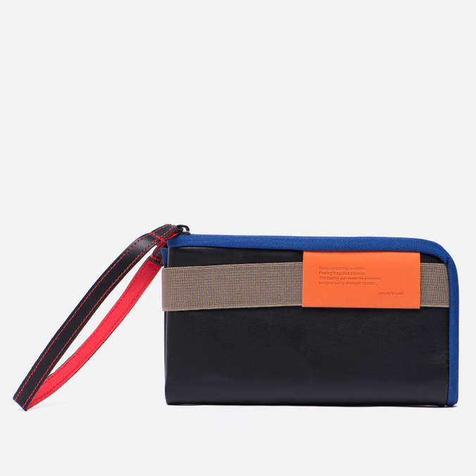 Кошелек Cote&Ciel Wallet Large Leather Black/Taupe/Indigo Blue