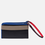 Кошелек Cote&Ciel Wallet Large Leather Black/Taupe/Indigo Blue фото- 2