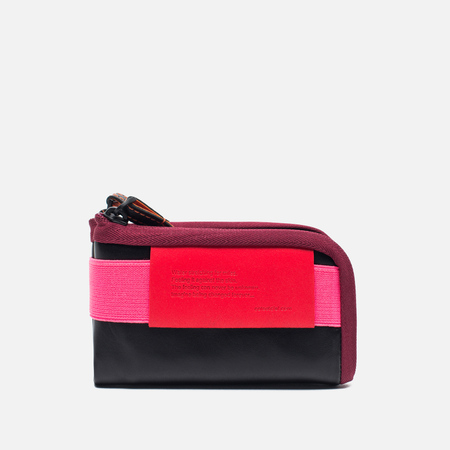Cote&Ciel Wallet Medium Leather Wallet Black/Fluo Pink/Dark Orchid