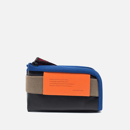Cote&Ciel Wallet Medium Leather Wallet Black/Taupe/Indigo Blue