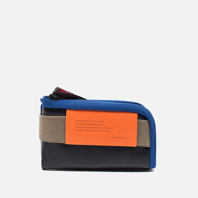 Кошелек Cote&Ciel Wallet Medium Leather Black/Taupe/Indigo Blue