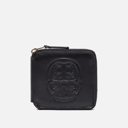 Кошелек Evisu Daruma Skull Leather Black