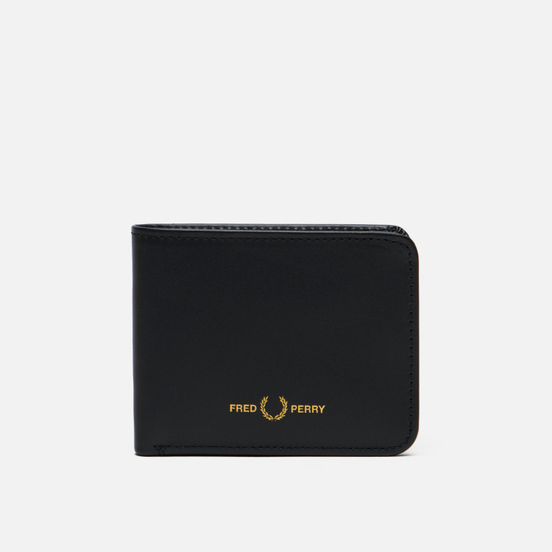 Кошелек Fred Perry Graphic Leather Billfold Black