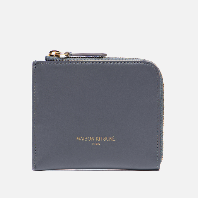 Кошелек Maison Kitsune Coin Purse Leather Anthracite