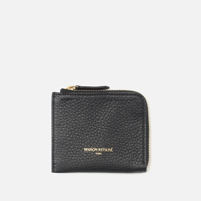 Кошелек Maison Kitsune Coin Purse Leather Black