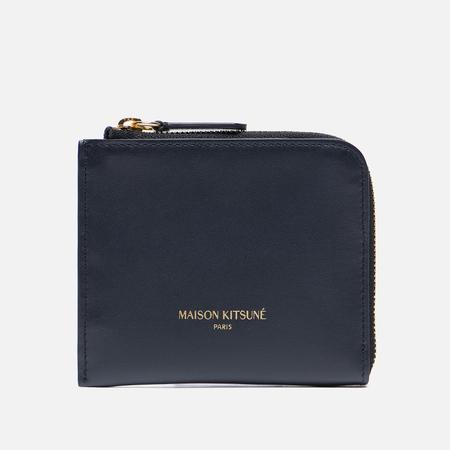 Кошелек Maison Kitsune Coin Purse Leather Dark Navy