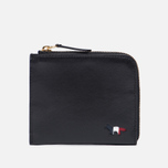 Кошелек Maison Kitsune Tricolor Coin Purse Leather Black фото- 0