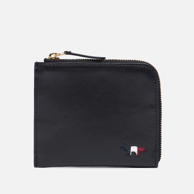 Кошелек Maison Kitsune Tricolor Coin Purse Leather Black