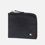 Кошелек Maison Kitsune Tricolor Coin Purse Leather Black фото- 1