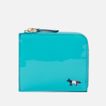 Кошелек Maison Kitsune Tricolor Coin Purse Leather Mint фото- 0