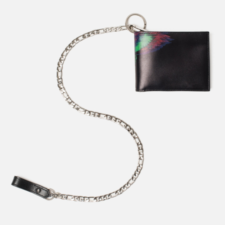 Кошелек Marcelo Burlon Fluo Glitch Chain Black/Multicolor