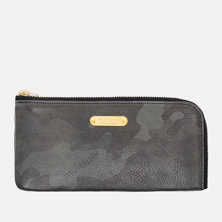 Master-Piece Land Long Zip Wallet Camo Black