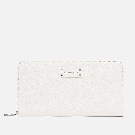 Master-Piece Noble Zip Wallet White