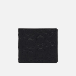 Кошелек McQ Alexander McQueen Billfold Leather Logo Embossed Black