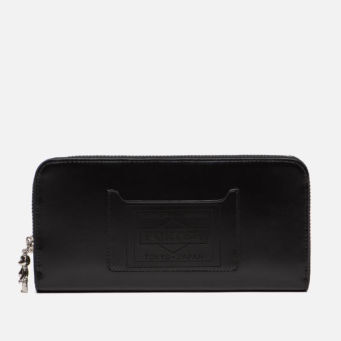 Кошелек Medicom Toy Bearbrick x Porter Long Leather Black