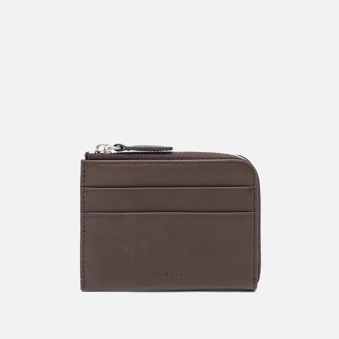 Mismo Card Zip Wallet Dark Brown