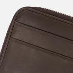 Mismo Card Zip Wallet Dark Brown photo- 6