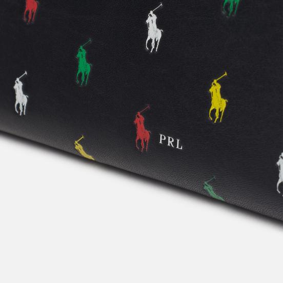 Кошелек Polo Ralph Lauren All Over Print Pony Long Zip Black/Multicolor