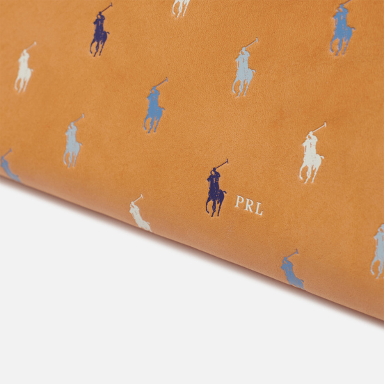 Кошелек Polo Ralph Lauren All Over Print Pony Long Zip Natural/Multicolor