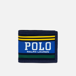Кошелек Polo Ralph Lauren Big Polo Billfold Nylon Navy/Yellow/Green